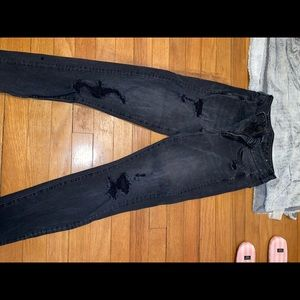 black ripped jeans!